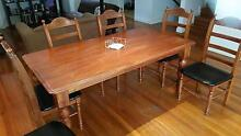 Solid wood dining table with chairs Marrickville Marrickville Area Preview