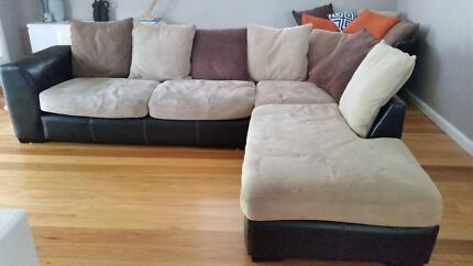 Lounge + swivel barrel chair - Excellent condition - 4 years old Seven Hills Blacktown Area Preview