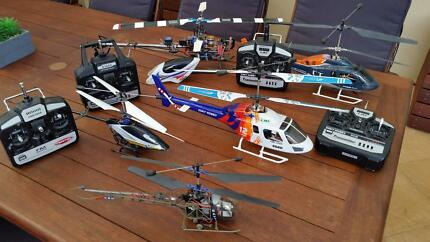 Rc Helicopter collection and new parts