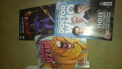 $4 each comic The phantom, doctor Who, Terrible Lizard Miranda Sutherland Area Preview