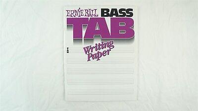 Tab Writing Paper - Ernie Ball 7022 Bass Tab Tablature Writing Paper - 48 Sheets