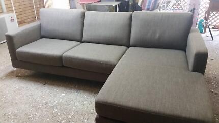 3 seater fabric chaise sofa lounge