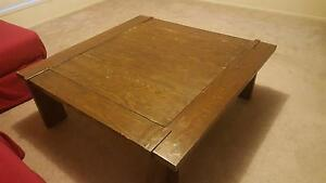 LARGE SQUARE WOODEN COFFEE TABLE 1200 x 1200 Kenmore Brisbane North West Preview
