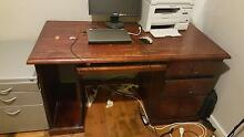 solid wood computer desk : moving sale :Must sell by 3rd july Balgownie Wollongong Area Preview