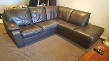 Leather 3 seater plus 2 seater corner lounge suite Epping Ryde Area Preview