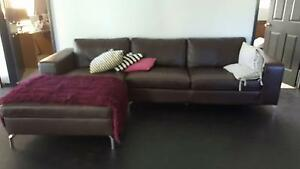 Large leather-ette lounge including chaise Merrylands West Parramatta Area Preview