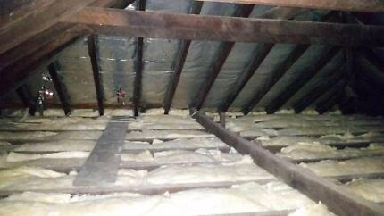 Roof/ gutter cleaning- insulation & roof tile fix up services