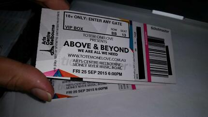 Sold Out VIP BOX Above & Beyond Tickets - Melbourne 25 Sep Mannum Mid Murray Preview