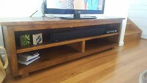 Timber tv buffet cabinet Woolgoolga Coffs Harbour Area Preview