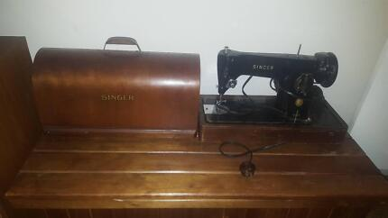 Singer 201k Antique Electric Sewing Machine
