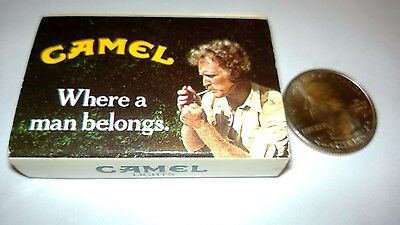 "OLD Vintage ""CAMEL"" 1981 ""WHERE A MAN BELONGS""  unused matchbox MADE IN USA"