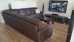 3 piece modular leather lounge Aldinga Beach Morphett Vale Area Preview