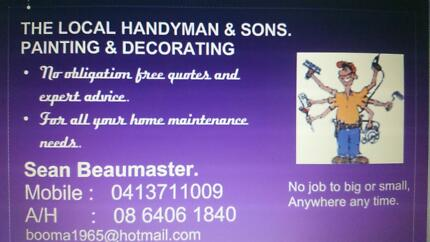 THE LOCAL HANDYMAN & SONS. PAINTING & DECORATING Joondalup Joondalup Area Preview