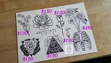 Custom drawn tattoos at fixed prices! Richmond Yarra Area Preview