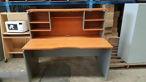 DESK WITH STORAGE HUTCH - office work study student table Murarrie Brisbane South East Preview
