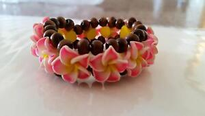 Hawaiian Stretch Bracelet, Pink Frangipani, New Rutherford Maitland Area Preview