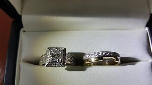 18 Ct yellow and white Wedding banner and Engagement ring Cairns Cairns City Preview