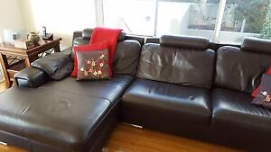 Like new - Brown Leather Lounge Drummoyne Canada Bay Area Preview