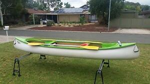 Canoe sits up to 3 person  4 meters great for a family kayak Andrews Farm Playford Area Preview