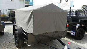 6X4 Light duty Trailer with 600mm high cage & canvas cover Narre Warren Casey Area Preview