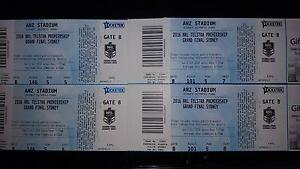 NRL GRAND FINAL tickets - Gold (4) family seats East Hills Bankstown Area Preview