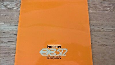 FERRARI BB512 BERLINETTA BOXER 1978 SALES BROCHURE N.158/78 VERY GOOD CONDITION
