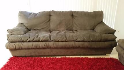 Sofa, rug, cushions