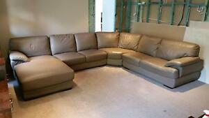 5 seater leather couch with chaise Kenthurst The Hills District Preview