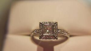 Michael Hill 18ct White Gold Square Cluster 0.52ct Diamond Ring Alexandria Inner Sydney Preview