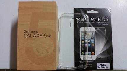 Black Samsung GalaxyS5 Factory Unlocked+Case+Screen Protector 16G Edensor Park Fairfield Area Preview