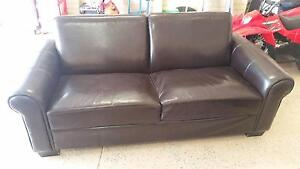 Leather sofa good condition Meadow Springs Mandurah Area Preview