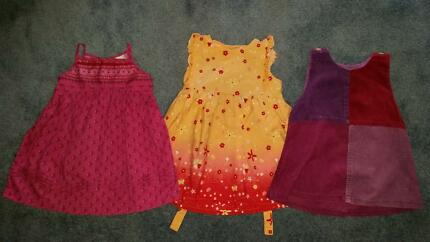 Baby girls designer dresses x 3 size 6-12 months EUC Palm Beach Pittwater Area Preview