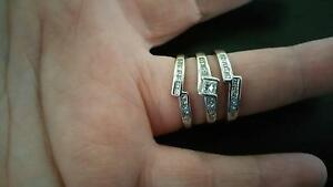 Stunning Bridal Set - Engagement, wedder and eternity ring. $900 Coorparoo Brisbane South East Preview