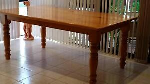 Pine Kitchen Table Hand Crafted Stirling Stirling Area Preview