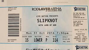 Slipknot Ticket Melbourne Monday 31st October Lower Section Macedon Macedon Ranges Preview