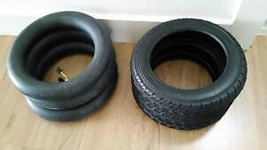 3 new pram/bike inner tubes  & tyres 10x2 Mowbray Launceston Area Preview