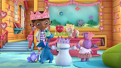 Doc Mcstuffin Birthday Cake (Doc McStuffins Lambie Edible Birthday Cake Image Topper Frosting Icing 1/4)