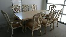 """Travertine Dining Table and 8 """"Stanley Furniture"""" Chairs Noraville Wyong Area Preview"""