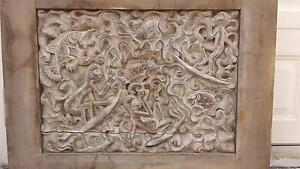 LARGE BALINESE CARVED FEATURE PANEL, IMPRESSIVE! Greenslopes Brisbane South West Preview