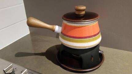 Vintage fondue set
