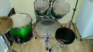 Drum Kit Complete - Sonor Essential Force - Green Birch Shell Capital Hill South Canberra Preview