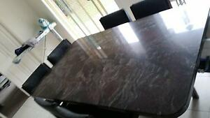 black granite dining table. Bayswater North Maroondah Area Preview