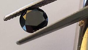Exquisite Rare Black Round Diamond 1.67 carats