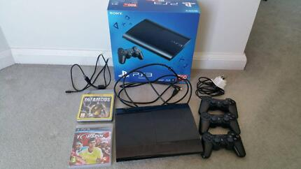 SUPER SLIM PS3 500GB EDITION! X3 controllers, X8 games, long HDMI Fortitude Valley Brisbane North East Preview
