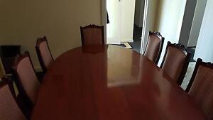 Mahogany table and chairs Panorama Mitcham Area Preview
