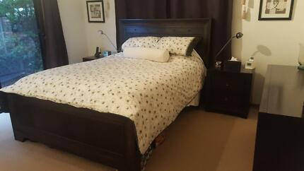 Queen Size bed suite solid timber including near new mattress Middle Park Brisbane South West Preview