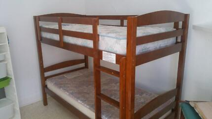 Wooden Bunk bed converts to 2 singles