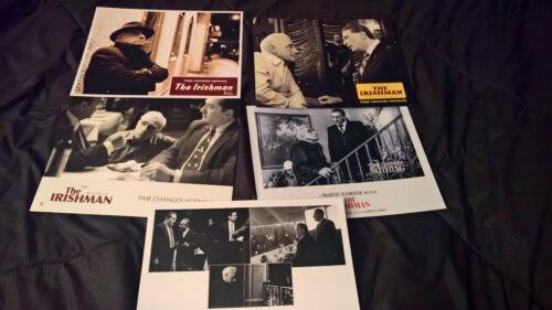THE IRISHMANSet 5 LOBBY CARDS from Theatr. DoubleSided Scorsese DeNiro Pacino