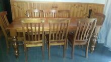 SOLID TIMBER 8 SEATER DINING AND CHAIRS Wells Crossing Clarence Valley Preview
