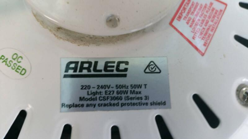 Almost New Arlec 75cm Little Max Cieling Fan Air Conditioning Heating Gumtree Australia Redcliffe Area Margate 1152905043